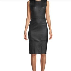 Newport News leather sleeveless dress